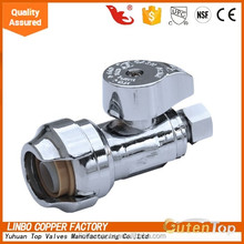 Galvanized angle valve with 1/2 male connectors