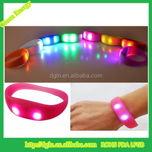 Night Club Promotional Silicone Led Bracelet,motion sensor led silicon wristbands bracelets,motion activated led bracelet