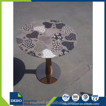 HPL Decorative Laminate Round Compact Laminate Table Tops