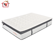 China supplier queen fireproof memory foam pillow top pocket spring mattress