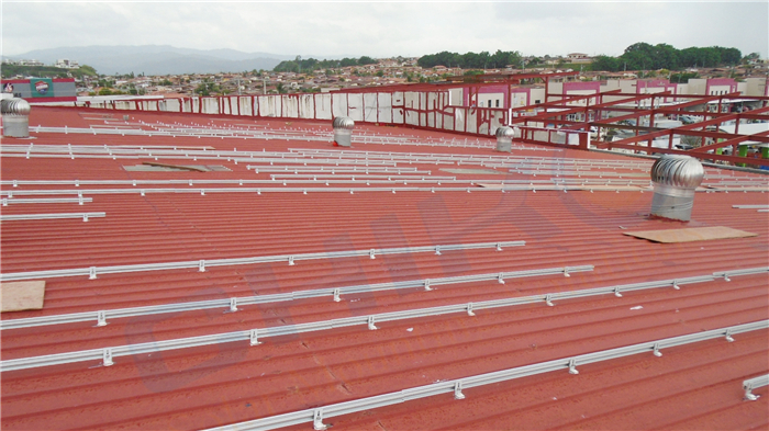 Photovoltaic mounting racking for metal thin roof solar system