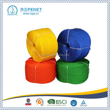 china supplier plastic rope pp polypropylene 3 strand twisted rope