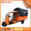 2016 Popular Heavy Load Strong Gasoline Cabin Semi-Closed Cargo Chinese 250CC Electric Tricycle With Cargo Box
