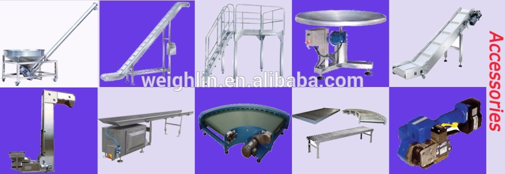 Movable liftup supporting stand working platform gantry high quality flexible customized food weigh packaging line for multihead