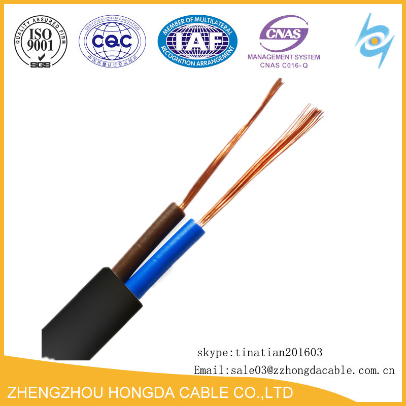 Copper Conductor 2 core 0.75mm2 PVC Insulated 318Y Flexible Cable