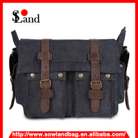 Multi-purpose Messenger Canvas Shoulder Laptop and Camera Bag