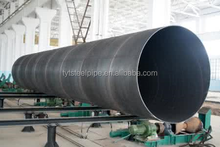 2017 apl 5l spiral welded steel pipe for water gas and oil transport