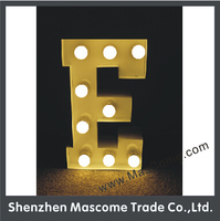 aluminium frame/steel structure/LED/PC panel Material and three face turning light letters Shape