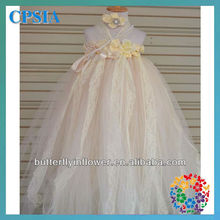 Baby Flower Girls Lace Tutu Dress Grown 3 Layer navy christening flower lace ball gown