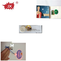 Voice recorder ic chip for greeting card with led flash