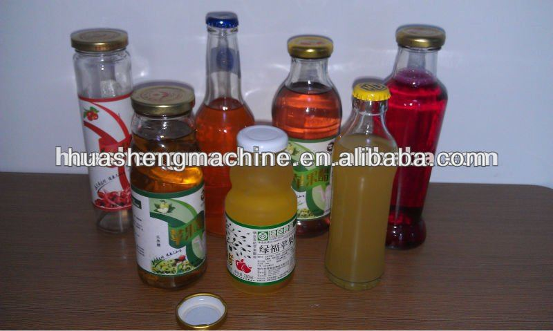 Hot Juice Glass Bottle Filling Sealing Machine