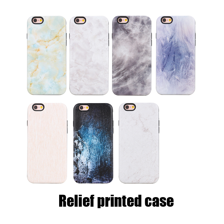 Wholesale fashion tpu pc smartphone marble case cover for iphone6 6s 6 plus