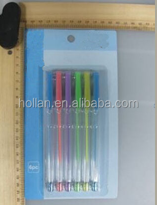 High Quality Rinbow Color 6PCS Pastel Gel Ink Pens