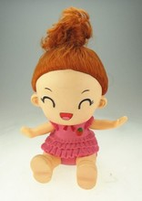 long hair toys silicone baby girl doll