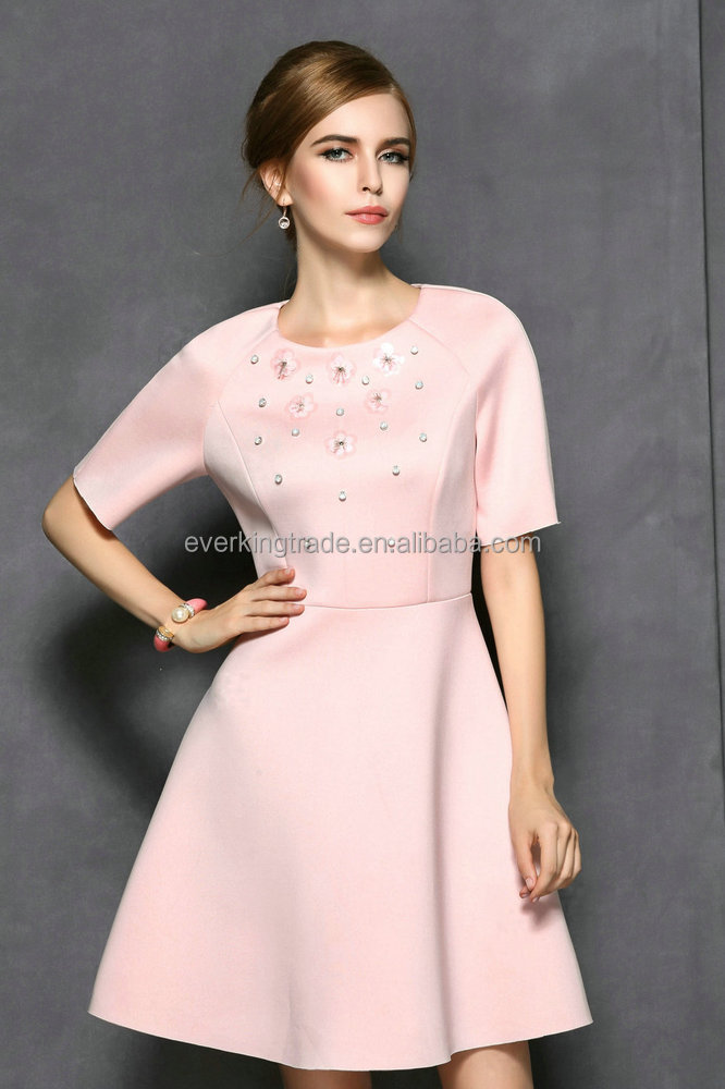 new fashion ladies dress Pink Prom Dress