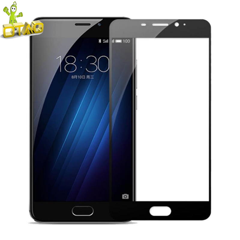 OTAO Tempered Glass Screen Protector For Meizu M3 Note M5 M5s 2.5D 9H Full Cover For M3E MX6 Pro 6 7 <strong>U10</strong> U20 Protective Film