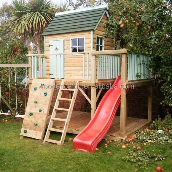 Cheap wooden children playhouse for sale buy cheap for Cheap outdoor playhouses