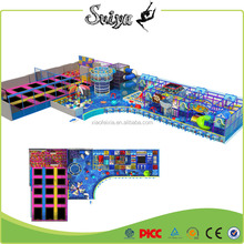 Factory wholesale commercial funny kids indoor playground equipment with trampoline park