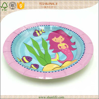 Ceramic disposable plates with sections for birthday party decoration packages