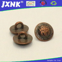 China wholesale brushed metal buttons used clothing