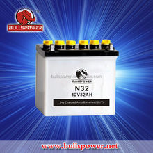 N32 12V 32ah Lead Acid Dry Charged Car Battery for starting
