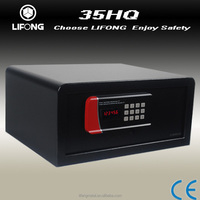 Electronic safety box for hotel room, laptop size safe