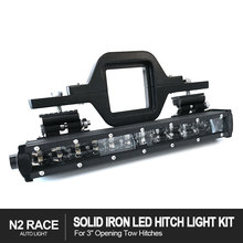 3 inch tow Rear Hitch Step Bar+Led Brake Trailer Tailgate Light