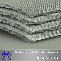 Insulation material for woven solar heat protection for extermal wall