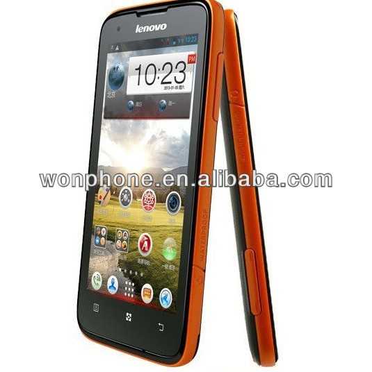 "waterproof IP67 Lenovo S750 1G RAM+4G ROM MTK6589 Quad Core 1.2Ghz 4.5"" HD IPS Android 4.2 Android phone"