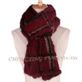 CX-S-17B Factory Directly Wholesale Price Women Knitted Mink Fur Scarf