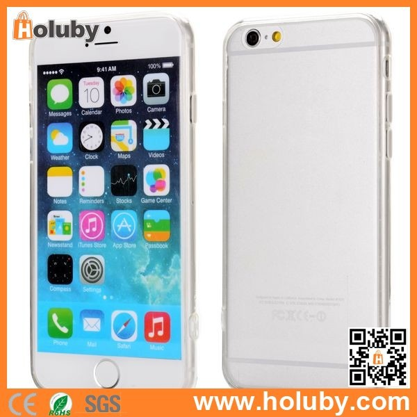 Wholesale Cheap Mobile Phone Case for iPhone 6, Transparent PC+TPU Back Case Cover for iPhone 6 4.7 inch