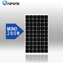 high efficiency 280w 300w monocrystalline silicon solar panel black for sale