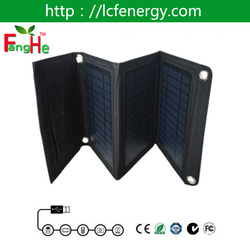 2016 Hot exquisite portable foldable cell phone charger solar panels 5V flexible solar charger