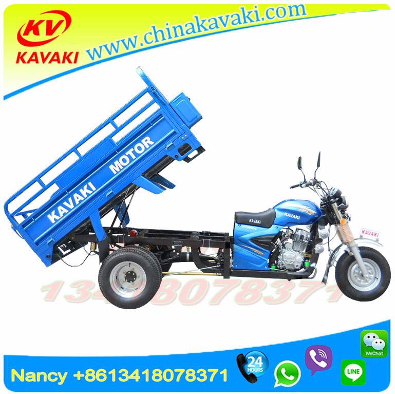 Four Rear Wheels/ Double Wheels Motorcycle/ Five Wheels Tricycle With Cargo Box