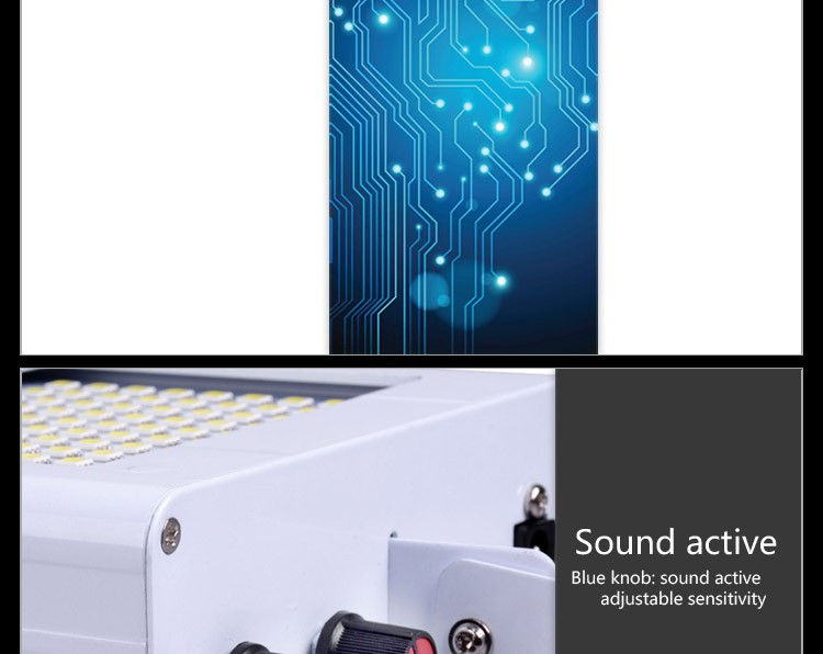 new product 2016 sound control white led strobe flash light for wedding stage
