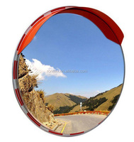 ABS / Polycarbonate Shatter Proof Convex Round Traffic Safety Mirror 35