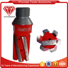 Diamond finger router bits for drilling and milling