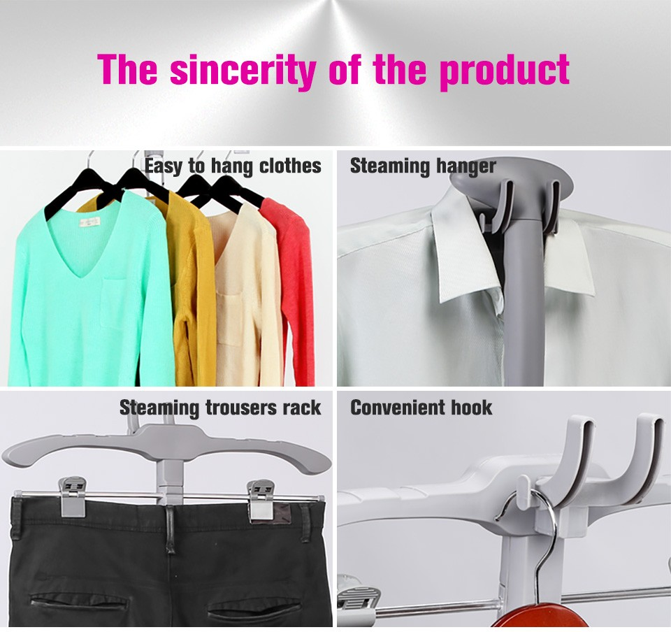 1800ml pause control wrinkle remover upright steamer garment friendly clothes standing steam iron