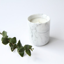Cheaper price Landscape white Marble candle jars/marble candle holder/marble cup Marble Tealight Candle Holder Tall