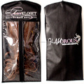 hair extension packaging for hair bundles/custom hair garment bags with hanger
