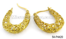 Tibetan Brass Tube Filigree Earring Hook Charms