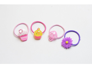 Cute animal shaped decorative hair ties girls elastic hair band C-hb197