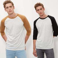 Custom Fashion Blank Baseball Jersey Shirt 3/4 Sleeves Ragalan Mens Tee Baseball Uniform Sweatshirts For Man