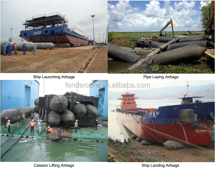 Chinese ship launching/lifting rubber marine airbags