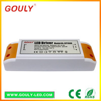 Gouly dimmable led driver 60w 48w 36w 24w pfc >0.95 plastic led driver housing