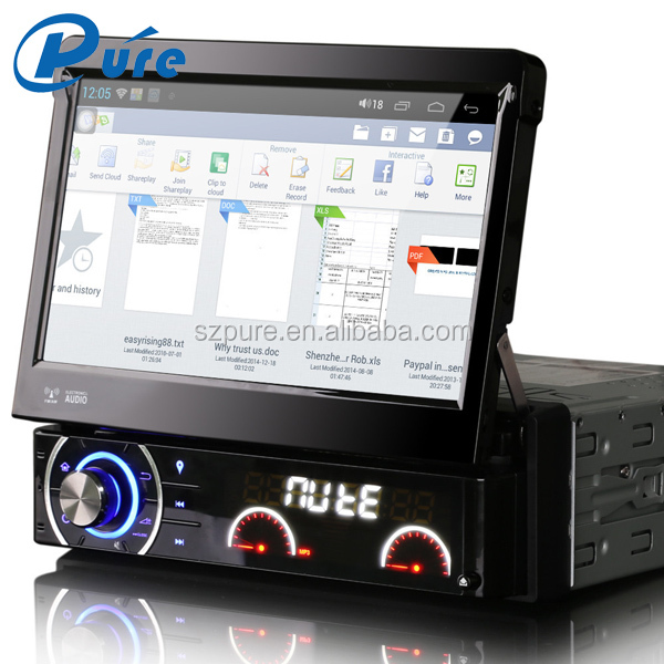 Android4.4.4 1 Din 7 inch Car DVD Player with GPS Blutetooth and CE and RoHS Certification