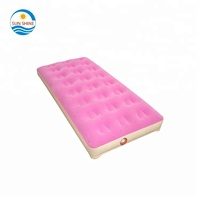 heavy duty flocking PVC inflatable travel kids bed mattress folding portable luxe inflatable toddler traveling air bed
