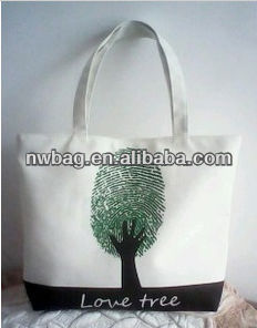 2013 Printed Cheap Eco-friendly Canvas wholesale tote bags