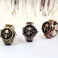 Fashion Jewelry Openable Skull Digital Finger Ring Watch JZB034