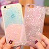 glitter soft tpu pouch for iphone6 silicon cover for samsung mobile cover shining new design